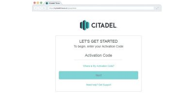 Citadel account sign-up